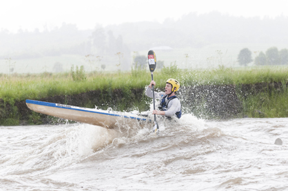 "Andrew Adie wrestles with a standing wave during last years flooded N3TC Drak Challenge. ""We are looking forward to getting back to business-as-usual this year,"" said race committee chair Barry Cole. Photo: Anthony Grote / Gameplan Media"
