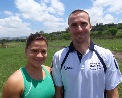 Czech Republic siblings Anna Adamová (left) and Jakub Adam (right) are excited by the prospect of the 2014 N3TC Drak Challenge Canoe Marathon. Photo: Supplied / Gameplan Media