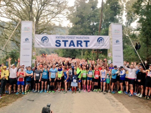 The Knysna Forest Marathon, which featured a 42km full marathon and a 21km half marathon, took place as part of the Knysna Oyster Festival today. Photo: Supplied