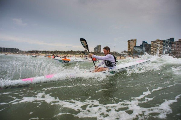 A large group of paddlers took on the 2016 Hansa Surfski Challenge on Friday. Photo: Anthony Grote
