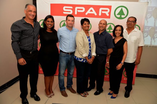 At the launch of the Northern Areas Football Association's annual Easter soccer tournament were, from left, Clive Killian, SPAR Eastern Cape's Roseann Shadrach, Twizza's Stuart Lamb, Venai Naidoo, James Heynes, Sharon Nicholas and Valentine Brink. Photo: Charles Pullen