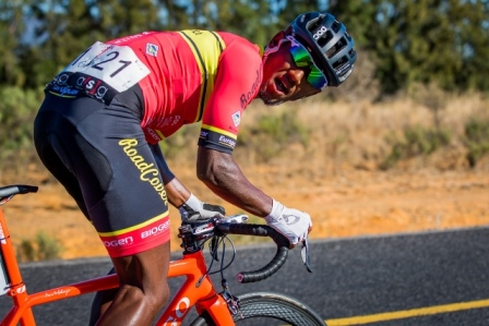 Cape Town Cycle Tour champion Clint Hendricks (Team RoadCover) will play a supporting role in Sunday's Emperors Palace Classic cycle classic. Photo: Warren Elsom/Capcha