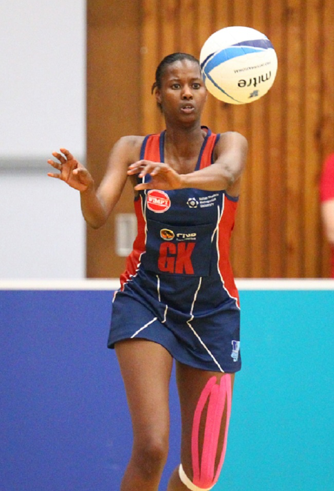 NMMU-Madibaz star Zanele Vimbela will join Jeanie Steyn in the SPAR Proteas netball side for the series against Wales. Photo: Saspa