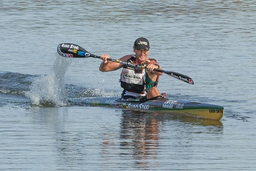 Hank McGregor picked up from where he left off in 2015 when he powered to victory at the Berg River Canoe Marathon time trial on Tuesday. Photo: John Hishin