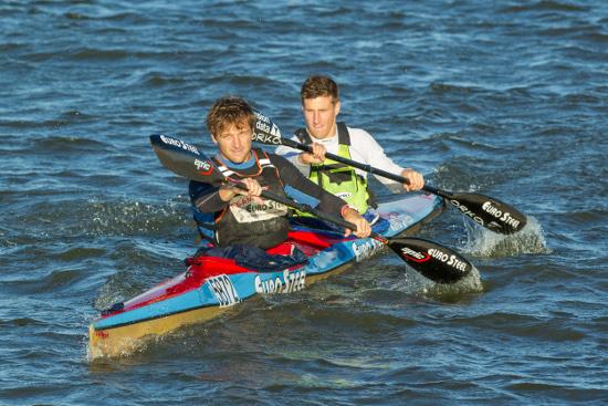 Former champions Jasper Mocké and Stu MacLaren are teaming up for the 2016 Breede River Canoe Marathon on 3 and 4 September. Photo: John Hishin/ Gameplan Media
