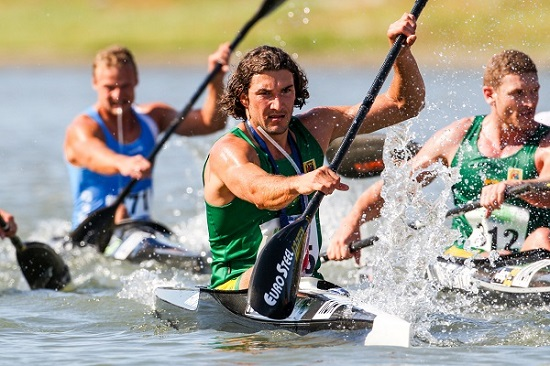 Following some good pre-tournament form, Euro Steel's Andy Birkett is not putting too much pressure on himself heading into the Canoe World Marathon Championships. Photo: Balint Vekassy