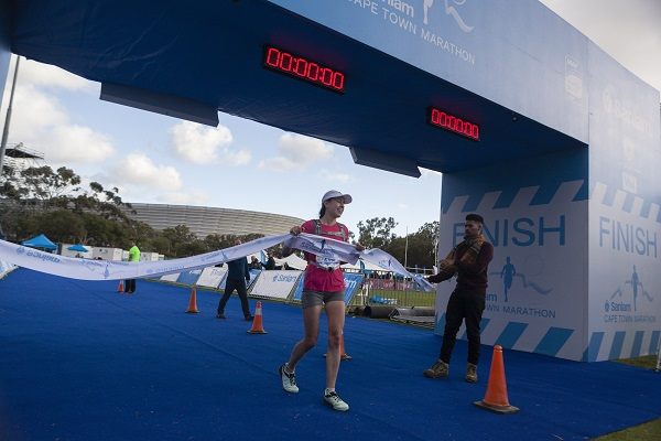 Annamard Laubscher dominated the women's field in the 22km Peace Trail run at the Cape Town Marathon today. Photo: Supplied