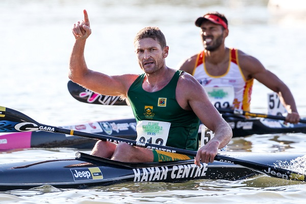 Top SA paddler Hank McGregor (Euro Steel/Kayak Centre) will be chasing another Canoe Marathon World Championship title in Germany this weekend. Photo: Balint Vekassy