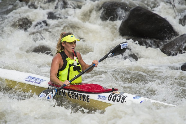 After winning a K2 silver medal at the Canoe Marathon World Championships, Euro Steel's Jenna Ward will be full of confidence for the Fish River Canoe Marathon next month. Photo: Anthony Grote