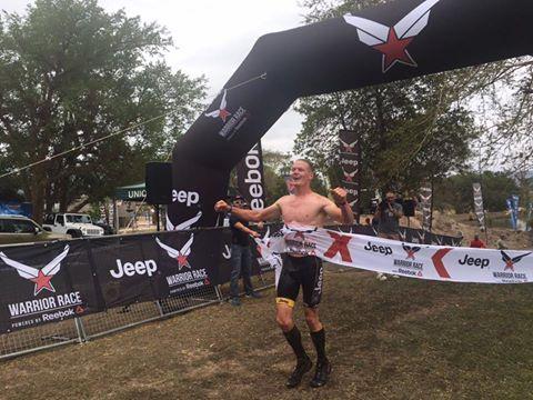 Thomas van Tonder won the Black Ops Elite men's race at the Warrior #6 Kwanyoni Lodge today. Photo: Facebook/@thewarriorrace