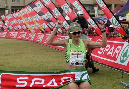 Irvette Van Zyl (Nedbank) won the 2016 SPAR Women's Challenge and claimed her third Grand Prix title in Johannesburg today. Photo: Reg Caldecott