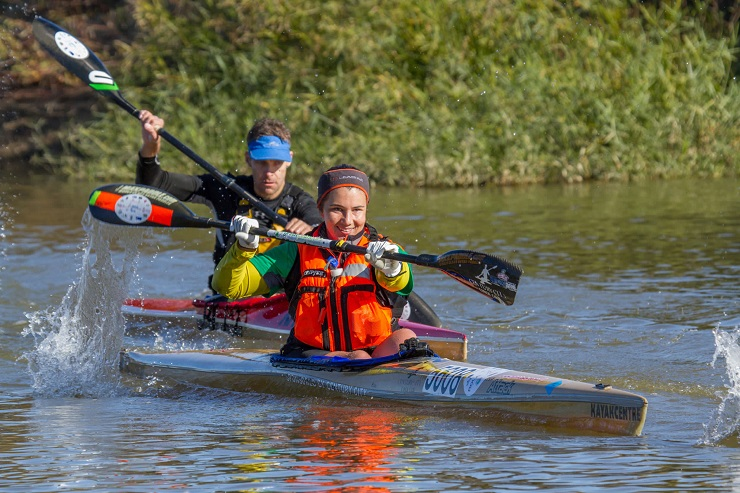 Bianca Beavitt extended her lead when she won the third stage of the Berg River Canoe Marathon yesterday.