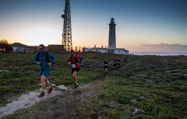 Some of the Chokka Trail Run participants in action during this year's event.