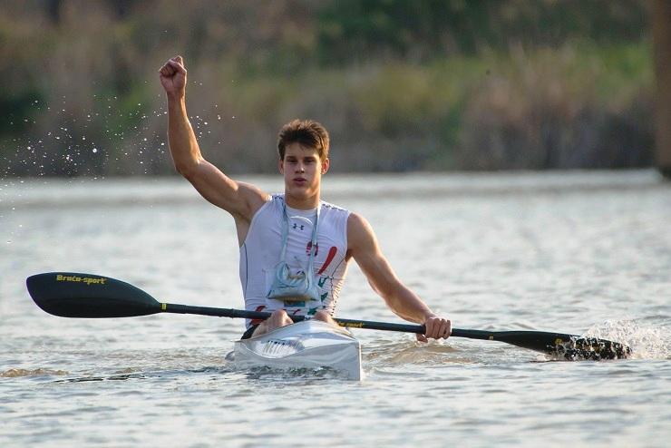 Hungary's Ádám Varga took gold in the junior men's race on the opening day of the Canoe Marathon World Championships in Pietermaritzburg on Thursday.