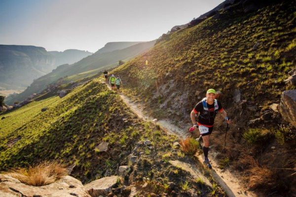 Trail runners were treated to some spectacular scenery during the Mont-Aux-Sources Challenge yesterday.