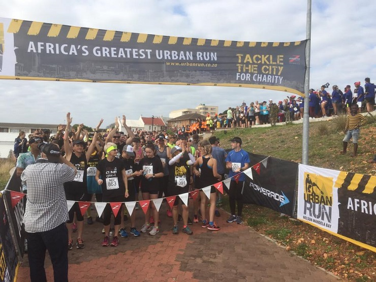 A large number of runners made their way to the Donkin Reserve in Port Elizabeth to take part in the Urban Run yesterday.