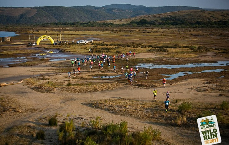 Runners in action during day one of the Wildcoast Wildrun.