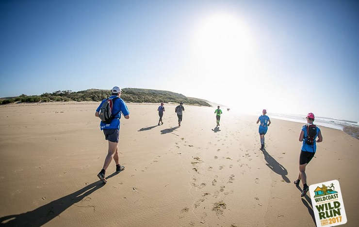 Runners in action during day two of the Wildcoast Wildrun.