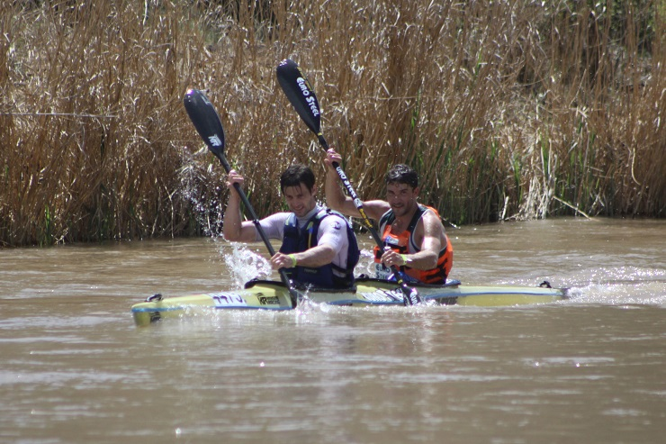 Greg Louw and Andy Birkett walked away with the overall Fish River Canoe Marathon title today.
