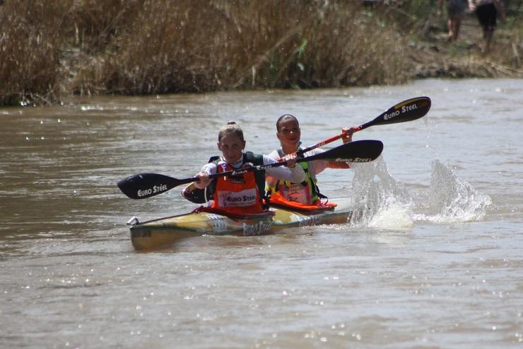 Jenna Ward and Anna Kožíšková won the overall women's title at the Fish River Canoe Marathon in Cradock, Eastern Cape, today.