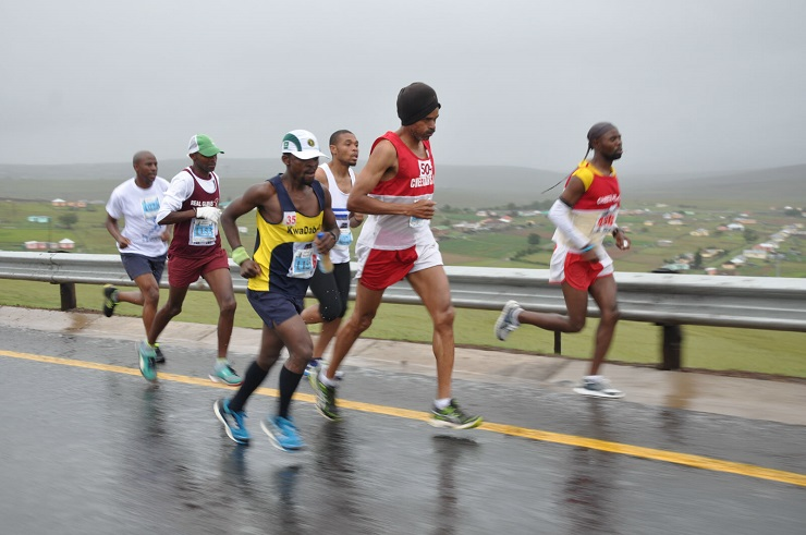 Runners in action during a previous year's Heroes Marathon.
