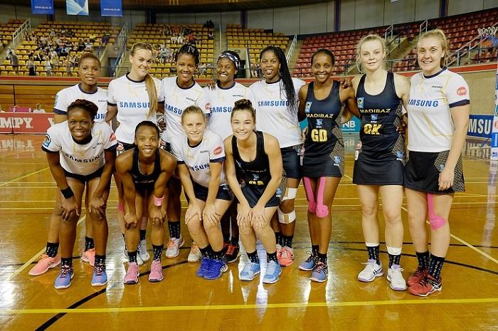 The Madibaz Varsity Sports Netball Team.