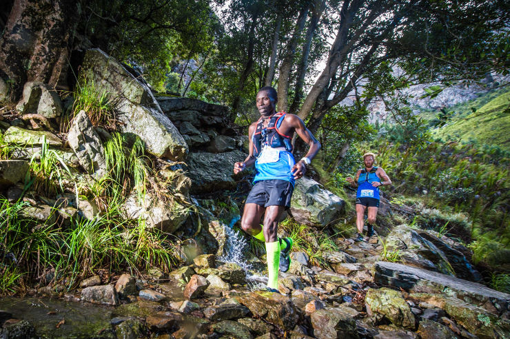 Bernard Rukadza and AJ Calitz day one of AfricanX Trailrun