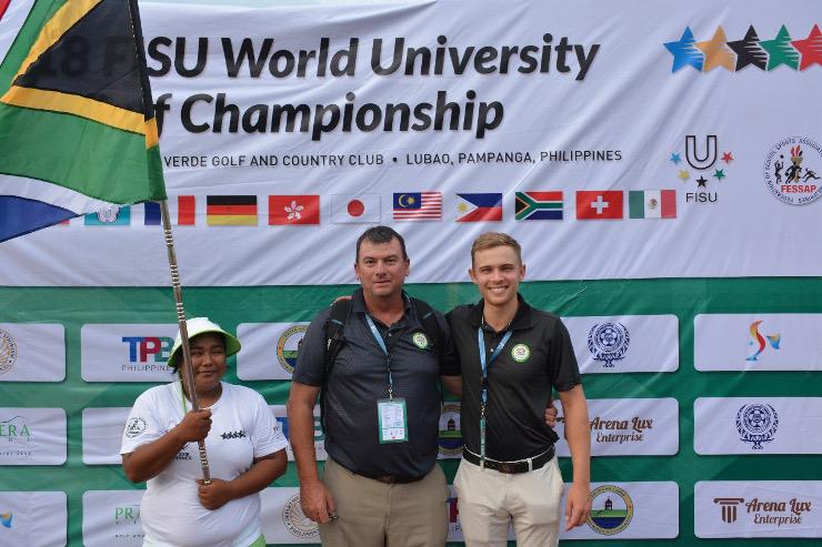Karl du Preez and Kyle de Beer Madibaz golf