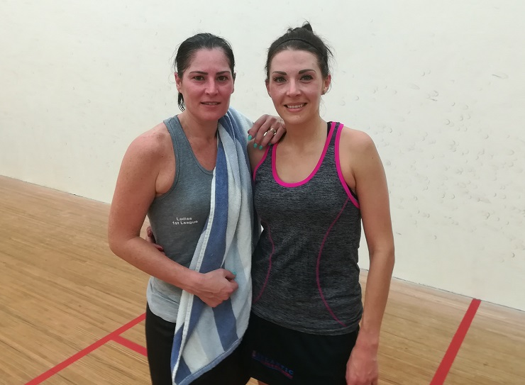 Lizelle Muller and Jacqui Ryder Madibaz Open squash tournament