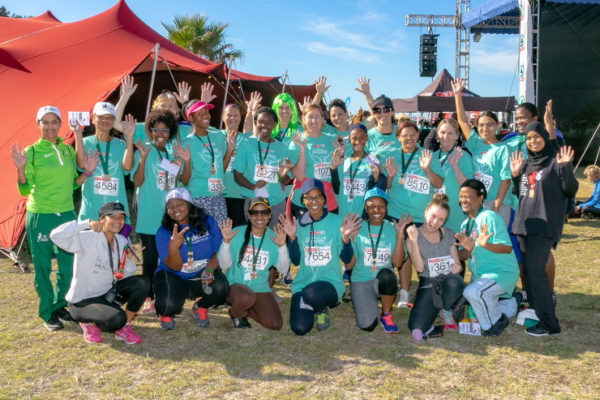 A posed photo of SPAR Women's Challenge participants