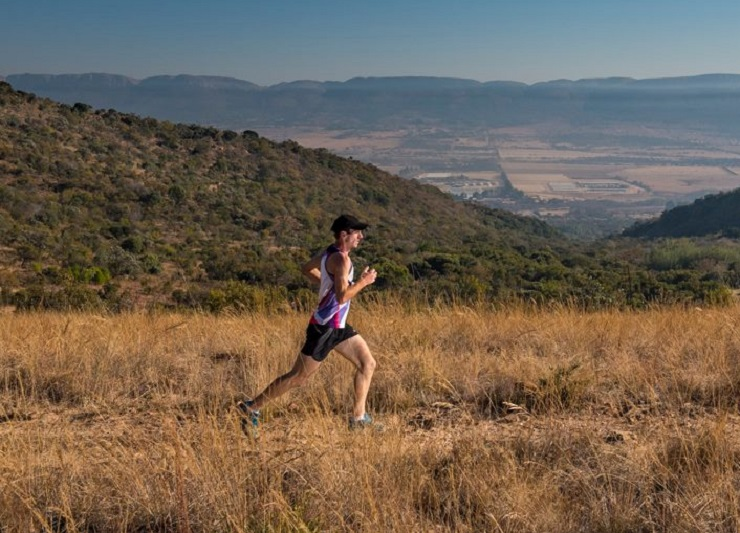 Ryno Van Vollenhoven and Chelsea Harrup won the 12.9km long course of the fourth Gauteng Winter Trail Series event yesterday. Photo: Facebook/@TrailSeries