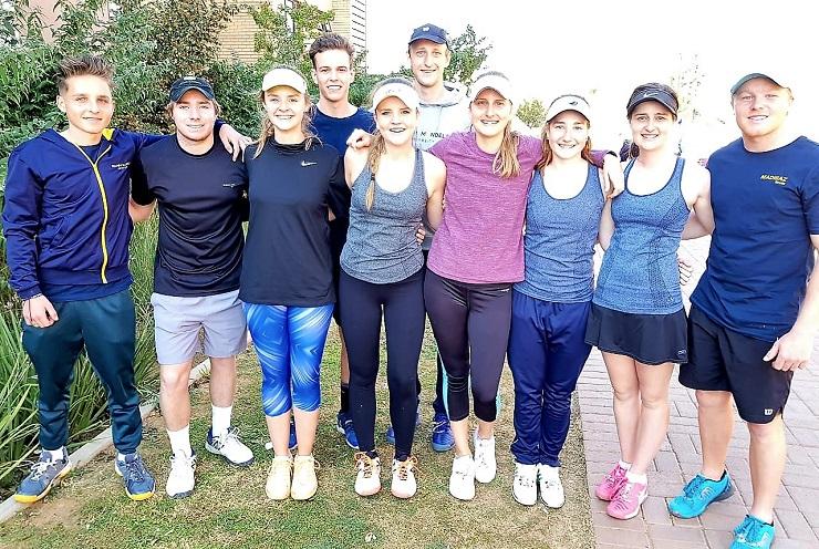 Pic 1 Madibaz tennis team