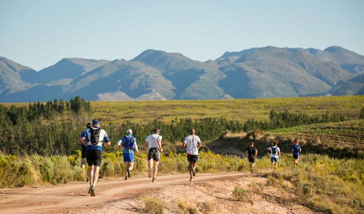 Runners in action during a Cape Winter Trail race