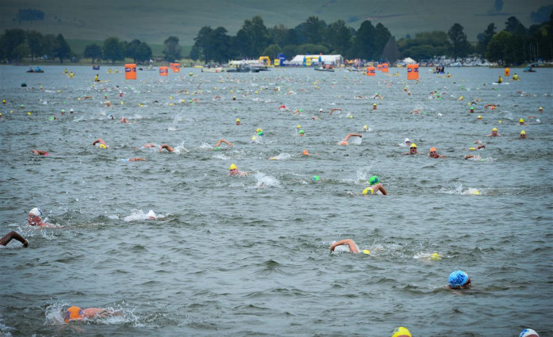 Swimmers during the Midmar Mile