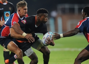 NMMU-Madibaz centre Jeremy Ward focuses on rugby - for now. Photo: Saspa