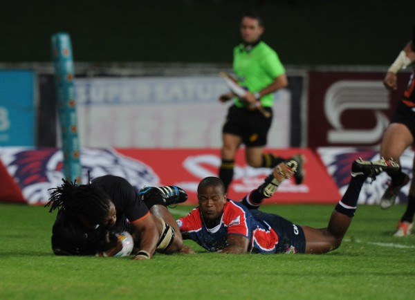 Khaya Malotana of the FNB NMMU-Madibaz during the opening round of the FNB Varsity Cup. Photo: Saspa
