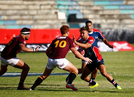 Charles Ward of Madibaz during their FNB Varsity Cup match against Maties. Photo: Saspa