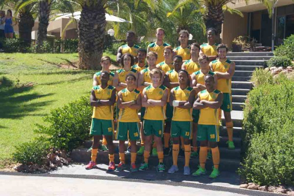 The SA U21 men's hockey side that took part in the Junior World Cup qualifier in Zimbabwe. Photo: Stephen Halle