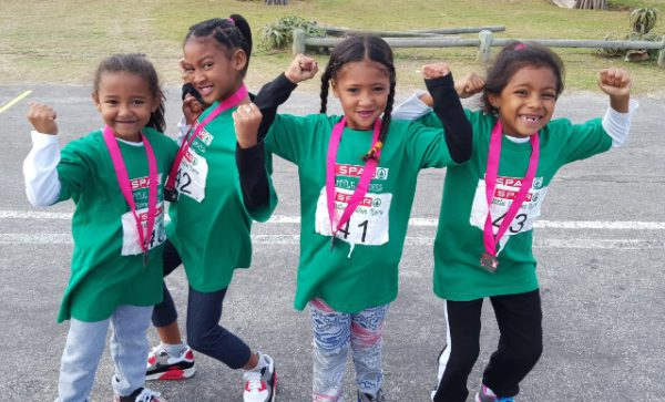 Little ladies from all over the Eastern Cape took part in the SPAR Little Ladies' Race, which was a curtain-raiser for this Saturday's SPAR Women's Challenge. Photo: Full Stop Communications