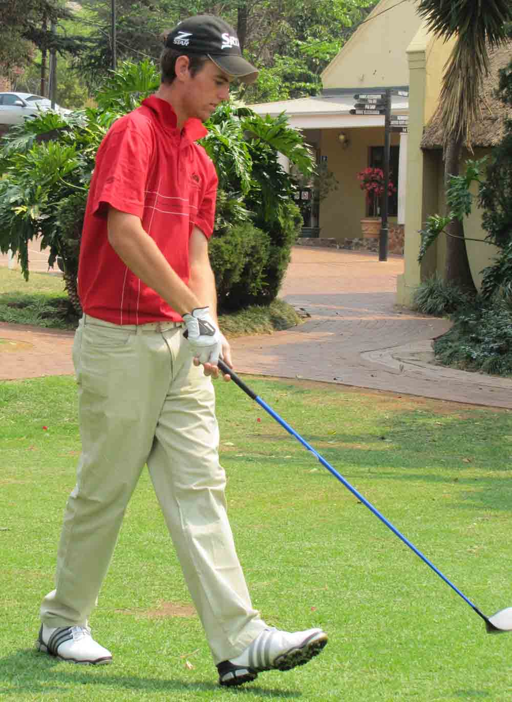 Luke Jerling, star KPMG NMMU golfer, is ready to compete in the Challenge Cup in Johannesburg next week. Photo: supplied