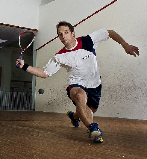 Jason le Roux from Madibaz will be one of the local contenders for next weekend's Brian Bands Madibaz Open squash tournament. Photo: Joubert Loots