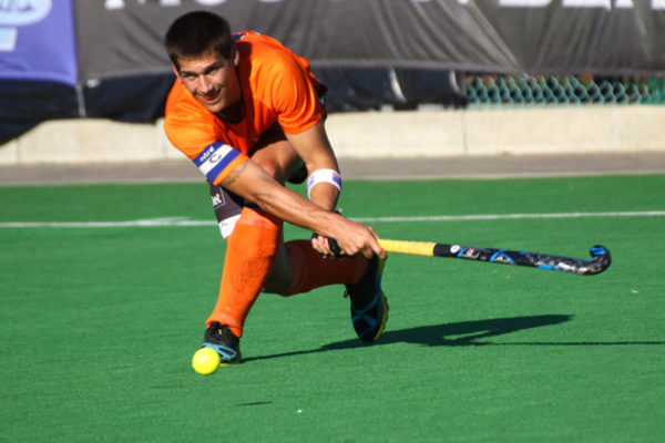 National team member Gareth Heyns guided UJ to their second successive title in the Varsity Hockey tournament. Photo: Saspa