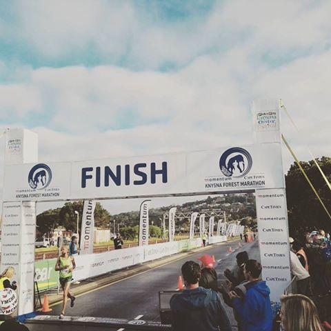 Lloyd Bosman wins this year's 42km Knysna Forest Marathon. Photo: www.facebook.com/KnysnaOysterFestival