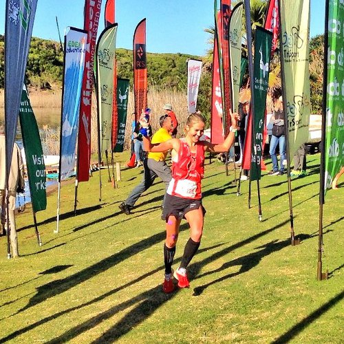 Landie Greyling dominated the women's category at the Sox Trail Run. Photo: twitter.com/LanGreyling