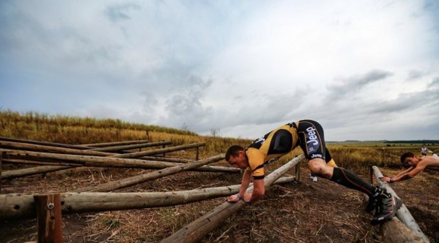 Participants take on one of the obstacle courses which forms part of the Warrior Series. Photo: ZC Marketing Consulting
