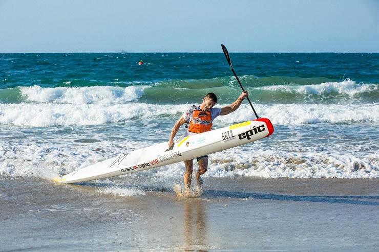 Jasper Mocké won the Durban Downwind at Addington Beach in Durban yesterday.