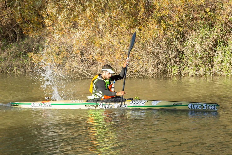 Adrián Boros won the second stage of the Berg River Canoe Marathon today.