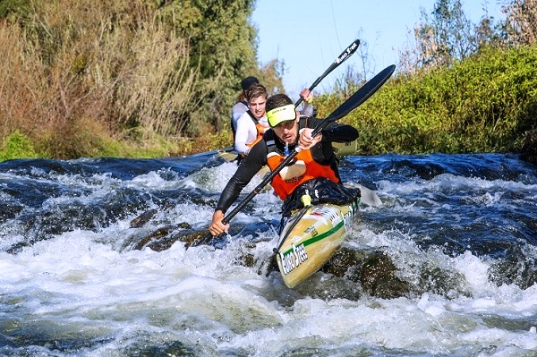 Hungarian paddling star Adrian Boros claimed a first ever stage win on day one of the Berg River Canoe Marathon.