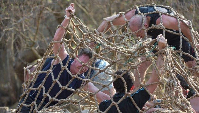 Things got a little tangled during the sixth round of the Warrior Race.
