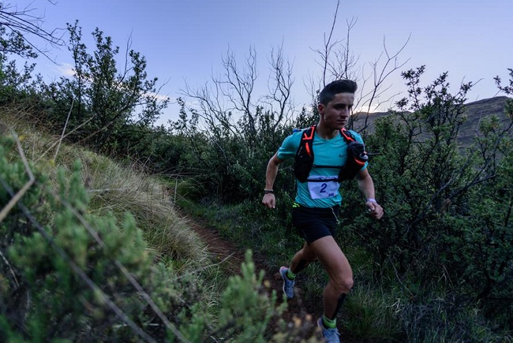 Johardt van Heerden and Nicolette Griffioen won the main 50km Ultra Skymarathon at the Lesotho Trail Run. Photo: TVrugtman/AdventureLifeSA
